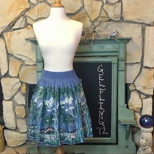 Vanessa and Virginia Tropical Print Skirt